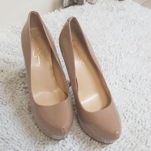 Jessica Simpson Jasmint Nude heels sz 10/40